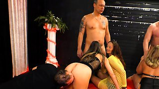 german swinger couple party with girlfriends