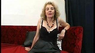 Gaping Anal Granny in Stockings Fucks Three