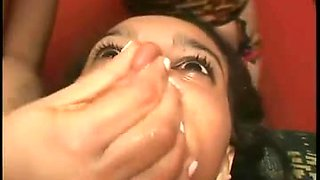 Brazilian lesbian lovers humiliate slave with spit