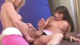 Two big cock girls love jerking each part2
