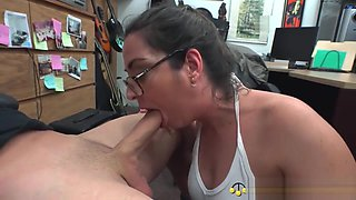 Big Titty Provencal Hottie Blows & Bangs American Cock