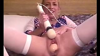 Dildo Gigant Insertion Pussy Ass Hole