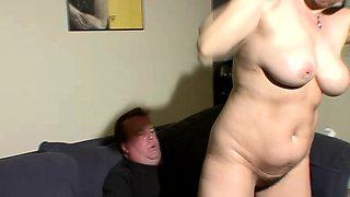 Stacked brunette with amazing oral abilities wildly rides a hard stick