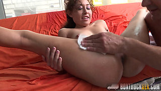 Amazing Melody Petite fucking in a loose truck