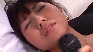 Horny Japanese girl Misato Kuninaka in Best JAV uncensored Threesomes scene
