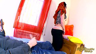 Arabian babe picked up for a hot porn movie