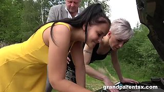 Family cums first roadside creampie