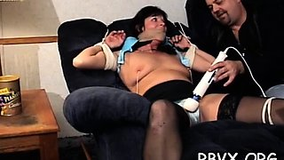Large stud disciplines a doxy with a bondage session