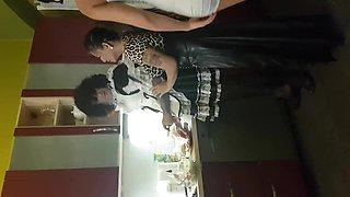 Mistresses humiliate their sissy maid house servant