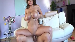 Sienna West busty housewife oiled up titty fuck smashed big dick