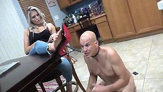 Blonde Goddess Have Paypig Chastity Slave