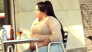 She loves being fat in public