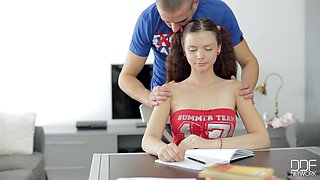 Russian Schoolgirl Does Not Want To Learn, And Wants Hard Fucking