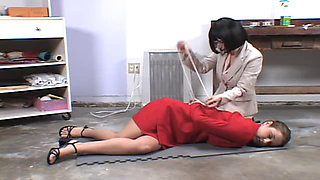 Girl held hostage in bondage