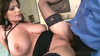 The busty hot new secretary