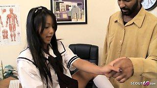 Virgin Thai Schoolgirl Seduce Black Monster Cock for Fuck
