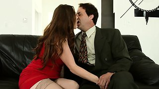 Swinger couple swap the spouses each other One couple sit