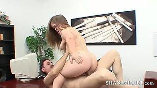 Midget slut gets fucked and facialized