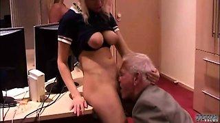 Slutty secretary hard spanked by boss's wife