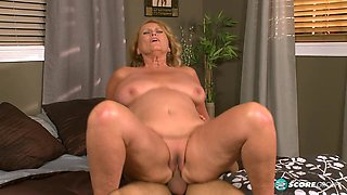 Thousands of cocks, but her first time on-camera! - 60PlusMilfs