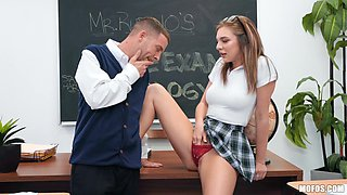 slutty schoolgirl sucks her teacher's dick