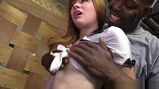 Claire Robbins - With two black men