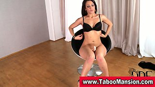 Watch hot brunette mistress toying her ass in fetish solo