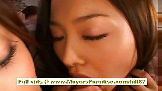 Akiho Yoshizawa naughty Chinese model has a lesbian foursome