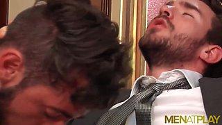 MENATPLAY Bearded Stud Philip Zyos Anal Fucks Massimo Piano