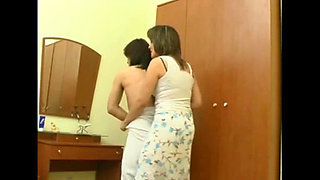 Passionate mom seduced her son s friend who was staying with them and had sex with him