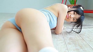 Charming Asian babe with pretty smile Oshima Tamana looks very hot