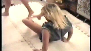 blonde vs blonde apartment wrestling