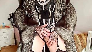 Two fur coat slutty Mistress