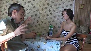 Beguiling brunette russian sweetie Barran enjoys a wild sex