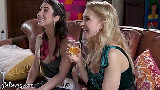 Turns This Bachelorette Fuck Party Into A Foursome With Serena Blair, Silvia Saige And Alix Lynx