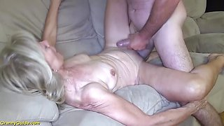 Frisky 82 years old mom stepson fucked