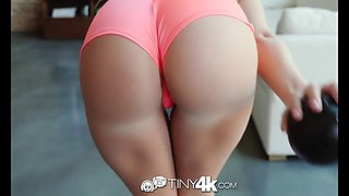 TINY4K Blonde Bailey Brooke Aggressive Grinding On Big Cock