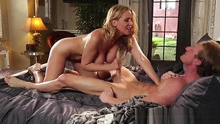 Knockers milf jizz soaked after sucking and sexy hard fucking