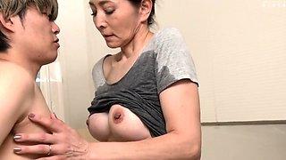 Hot asian slut gives hardcore blowjob to white stud