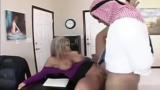 Sexy Busty Blonde American Wife & Secretary, Get's Fucked By Dirty Arab!