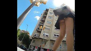 Upskirt on the street