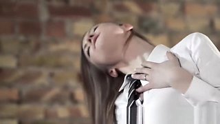 Aggressive College girl with Strapon is All the Rage