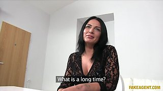 Shy Beauty Takes Agents Thick Cock Up Her Tight Arse