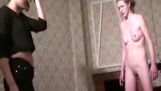 Blonde slave girls gets cunt kicked by a mistress