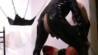 Mighty mistress doing her slave