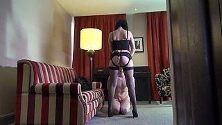 French mistress Mya Lorenn fucks dudes'a anal hole with the help of strapon