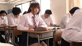 Horny Asian teen, Ai Nikaidou takes off school uniform for sex