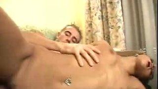 Big hard cock fucking hot Arabian girl in pink panties