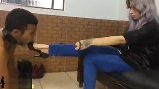 girls fetish brazil slave shoes cleaned