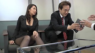 Alluring Jap slut needs cock in the office